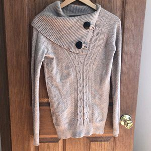 Fold over neck XS Sweater - Worn Once